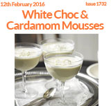 White Chocolate & Cardamom Mousses