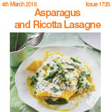 Asparagus and ricotta lasagne
