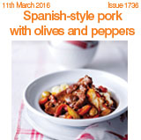 Spanish-style pork with olives and apples