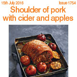 Shoulder of pork with cider and apples