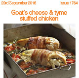 Goats Cheese and thyme stuffed chicken
