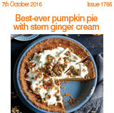 Best ever pumpkin pien with stem ginger cream