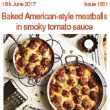 Baked American style meatballs