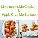 Lime Marmalade Chicken - Apple Crumble Sundae