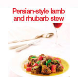 Persian style lamb and rhubarb stew